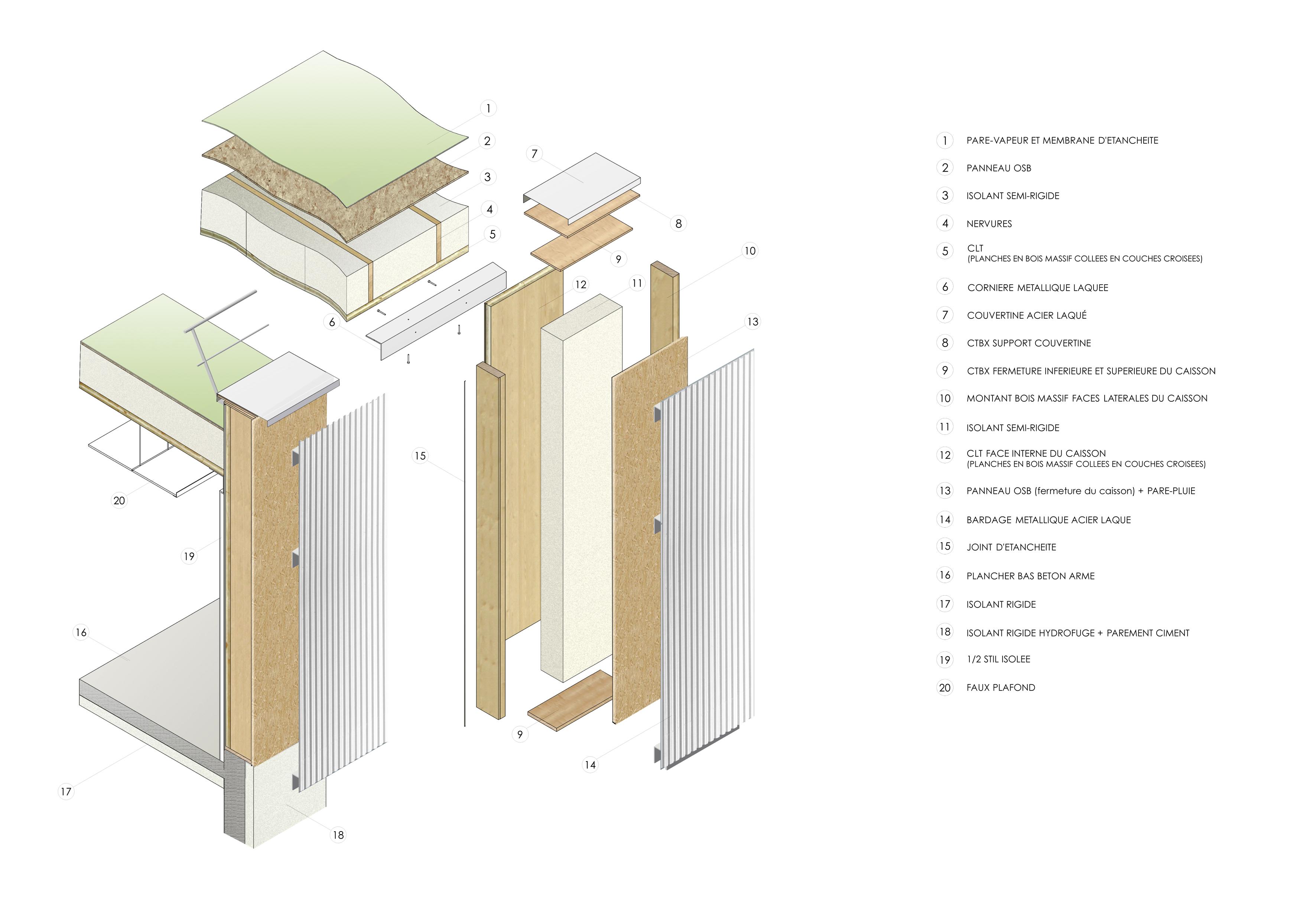 3D caisson facade METALLIQUE CAB